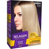 Salon Line Selagem Redutora Cabelos Louros, com Mechas ou Descoloridos 198ml