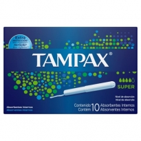 ABSORVENTE INTERNO TAMPAX SUPER 10 UNID