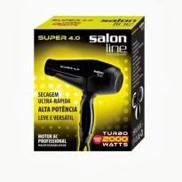 Secador Salon Line Super 4.0 2000W Preto e Motor Profissional