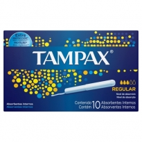 ABSORVENTE INTERNO TAMPAX REGULAR 10 UNID