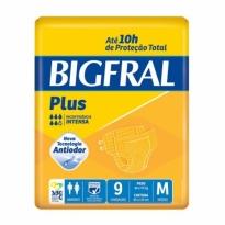 Fralda Geriátrica BigFral Plus 9 Unidades M