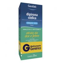 DIPIRONA SÓDICA GOTAS 500MG/ML 20ML GEOLAB