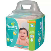 Fralda PAMPERS Confort Sec M Super Pack - 70 Fraldas