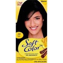 Coloração Sem Amonia Soft Color Wella 20 Preto