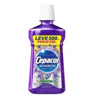 ENXAGUANTE BUCAL CEPACOL ADVANCED S/ ÁLCOOL LEVE 500ML PAGUE 350ML