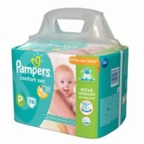 Fralda PAMPERS Confort Sec P Super Pack - 74 Fraldas
