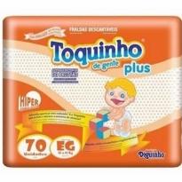 FRALDA TOQUINHO PLUS TAM EG 70 UNID