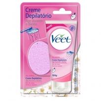 Creme Depilatório Veet para Banho para Peles Secas e Normais com 100 ml