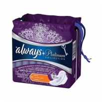 Absorvente Always Platinum Collection Seca Extra Suave Com Abas 8 unid