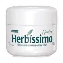 Desodorante em creme Herbíssimo Neutro com 55g