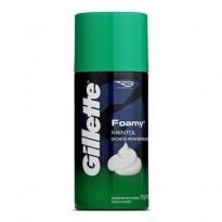 Espuma de Barbear Gillette Mentol com 175g