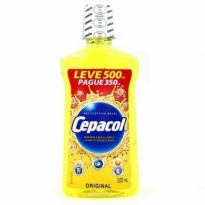 ENXAGUANTE BUCAL CEPACOL ORIGINAL LEVE 500ML PAGUE 350ML