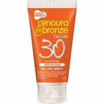 Protetor Solar Facial Diário Cenoura&Bronze FPS 30 50g