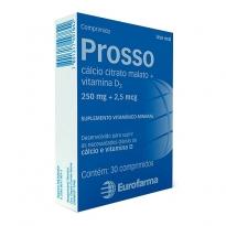 PROSSO 250MG+2,5MCG CX 30 COMPR