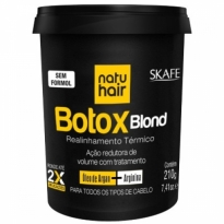 Redutor de Volume Skafe Natu Hair Botox Blond 210g